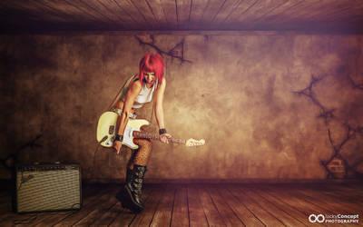 composing guitar