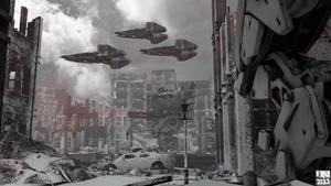 Sarajevo war zone, December 2132