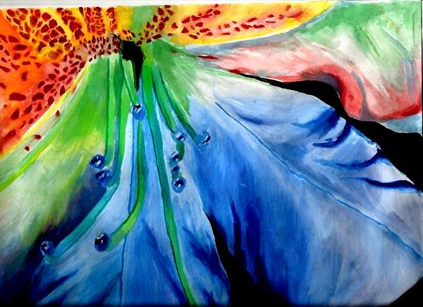 Rainbow Flower by smellybunnies