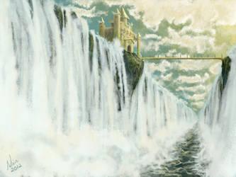 The Waterfall Castle by FernandaNia