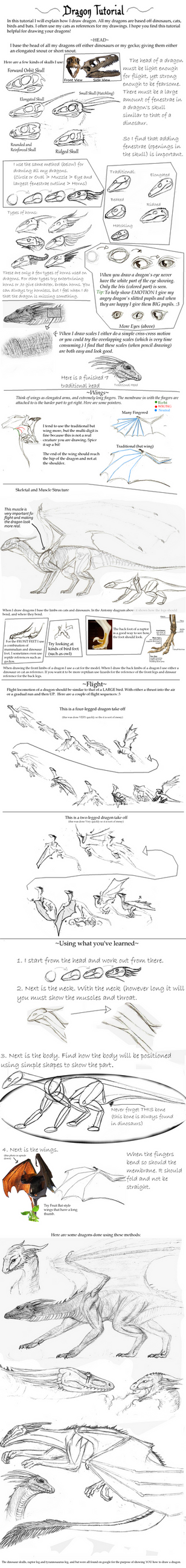 Dragon Tutorial by Giddygecko