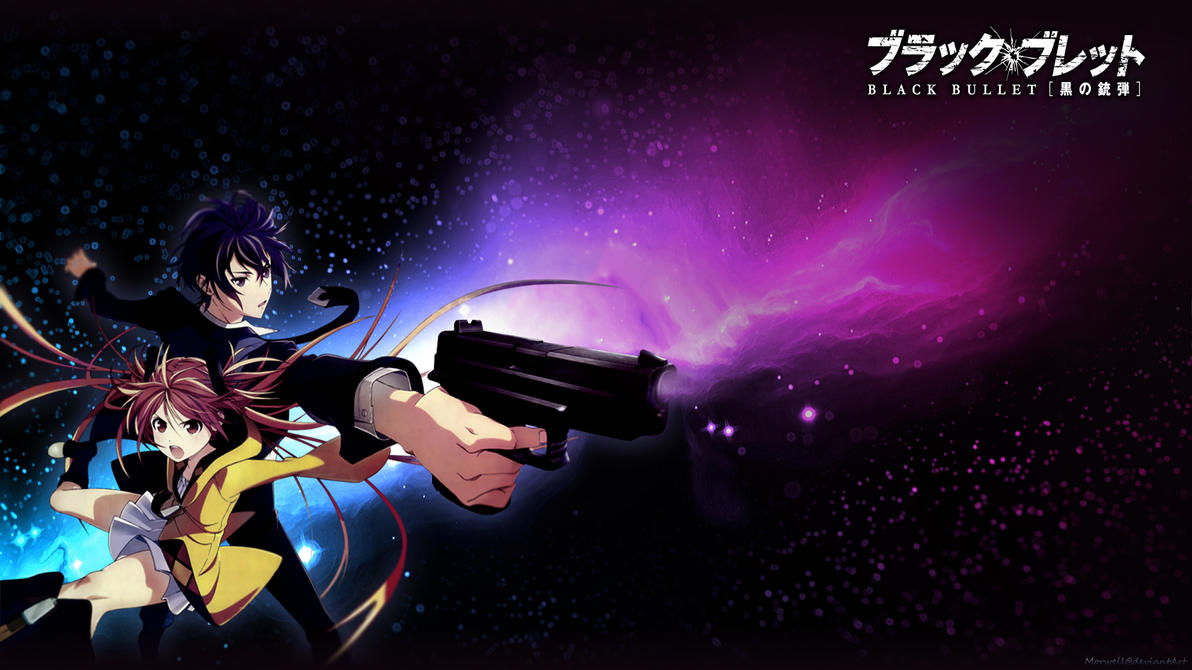 black bullet wallpaper by morwell on deviantart