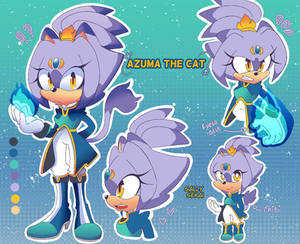Azuma the cat ( daughter of Blaze  and Silver)