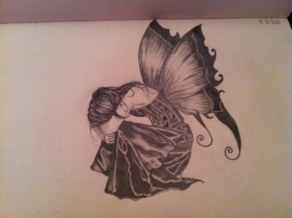 Sad Angel Drawing Drawing Sad Angel by