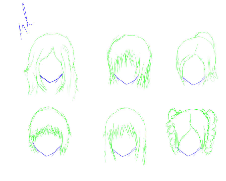 Trying Out Different Anime Girl Hairstyles By Wolves96 On