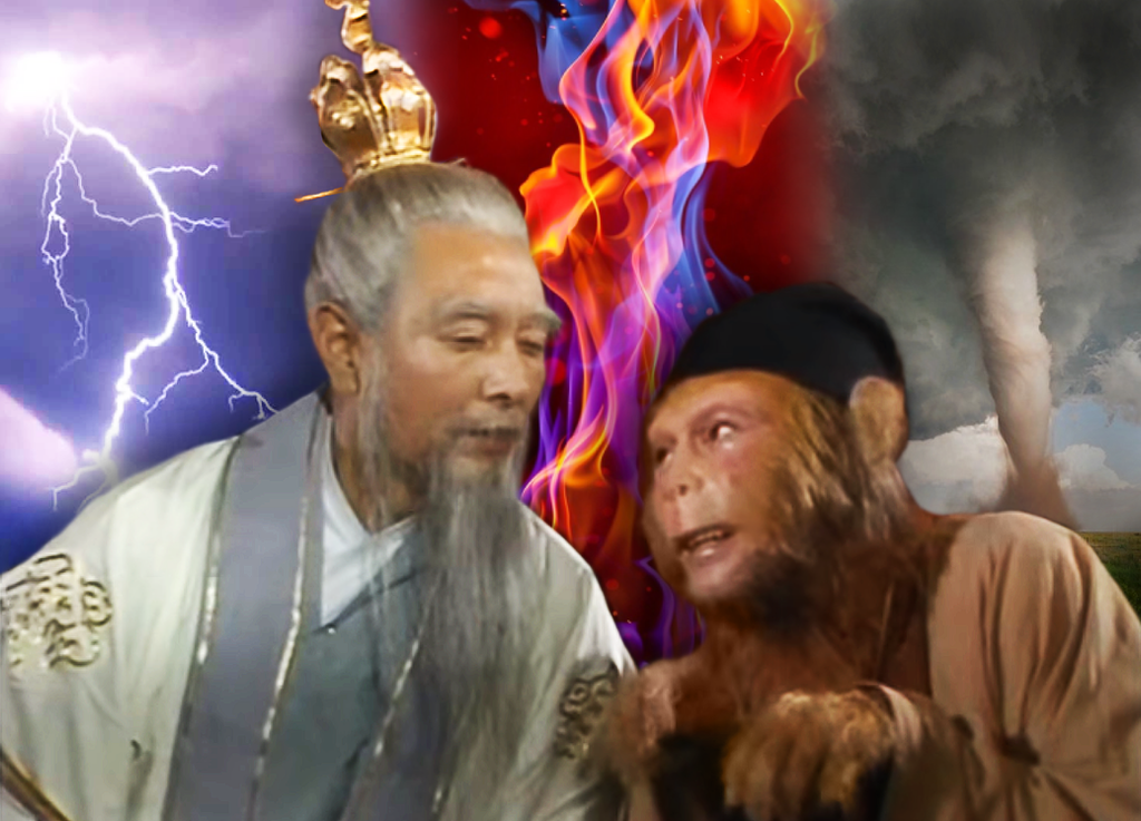 Sun Wukong learns of the Three Calamities by Ghostexorcist
