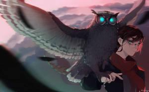 girl and owl by Kirisy
