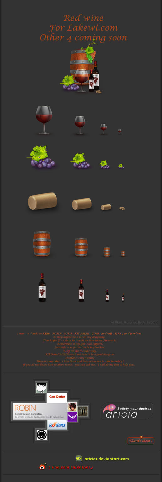 Icons for red wine by Aricia1