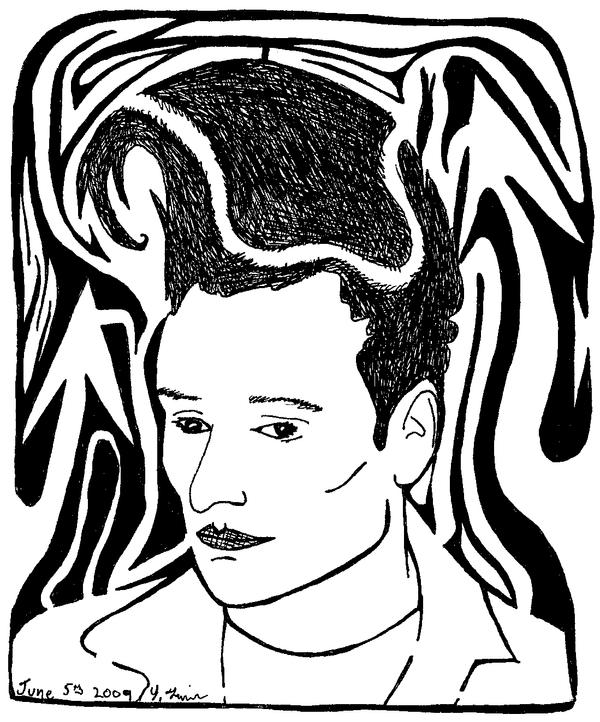 Maze portrait of conan obrian by ink-blot-mazes