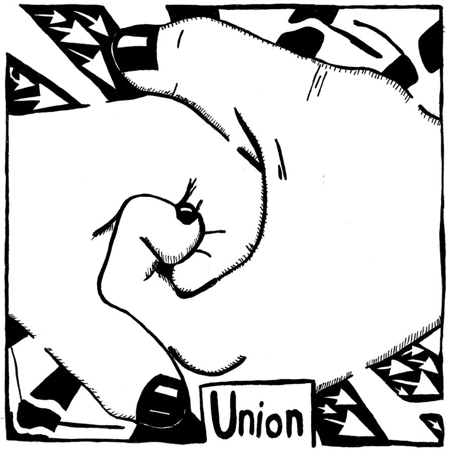 Union Maze - Maze of hands. by ink-blot-mazes