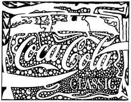 Coca-Cola Maze Ad sample by ink-blot-mazes