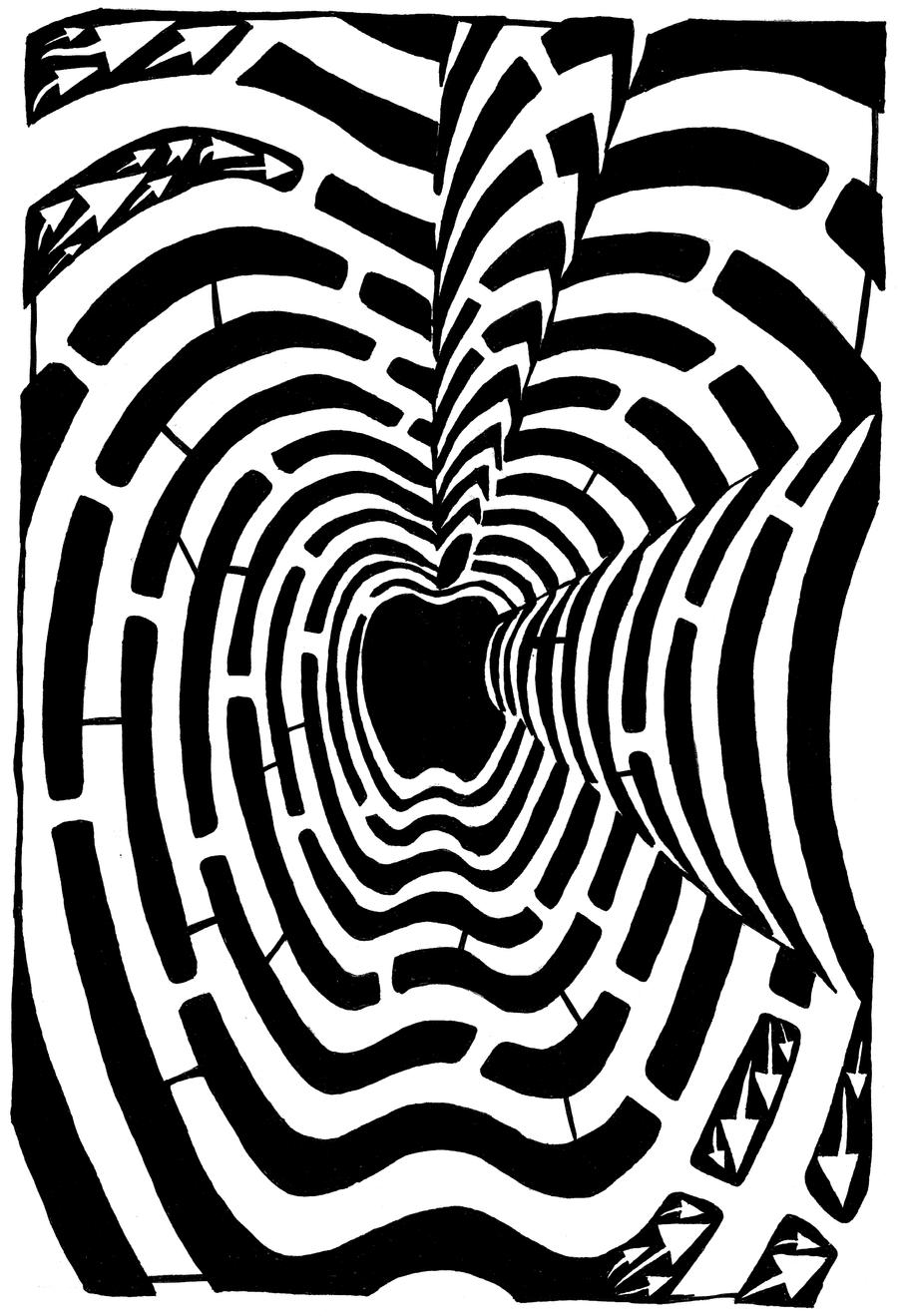 iMaze - Maze of Mac Logo by ink-blot-mazes
