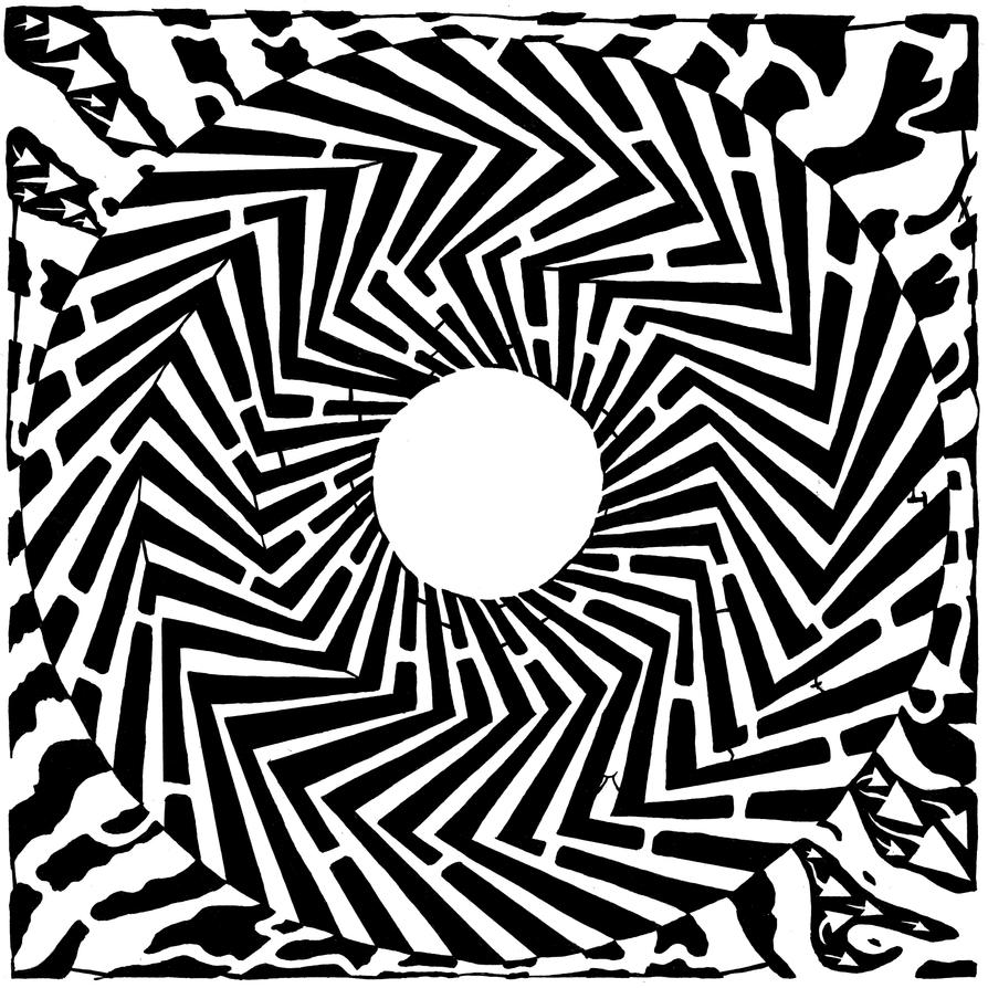 Psychedelic Swirly Maze by ink-blot-mazes