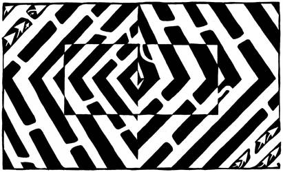 Maze of an Optical Illusion by ink-blot-mazes