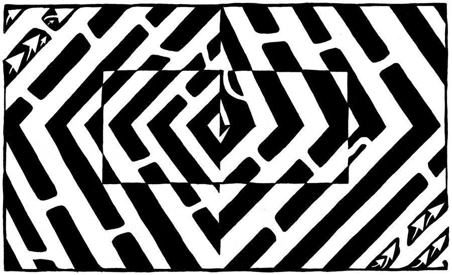 Maze of an Optical Illusion
