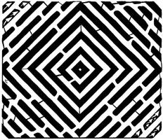 Pulsating diamond maze by ink-blot-mazes