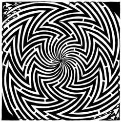 Optical Illuson Maze of Madnes by ink-blot-mazes