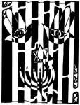 Happy Judaica Maze Art by ink-blot-mazes