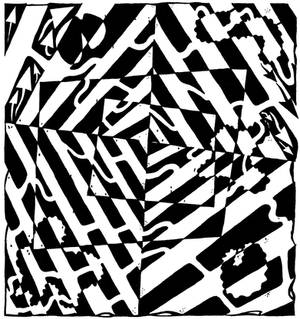 Chaos Maze Optical Illusion