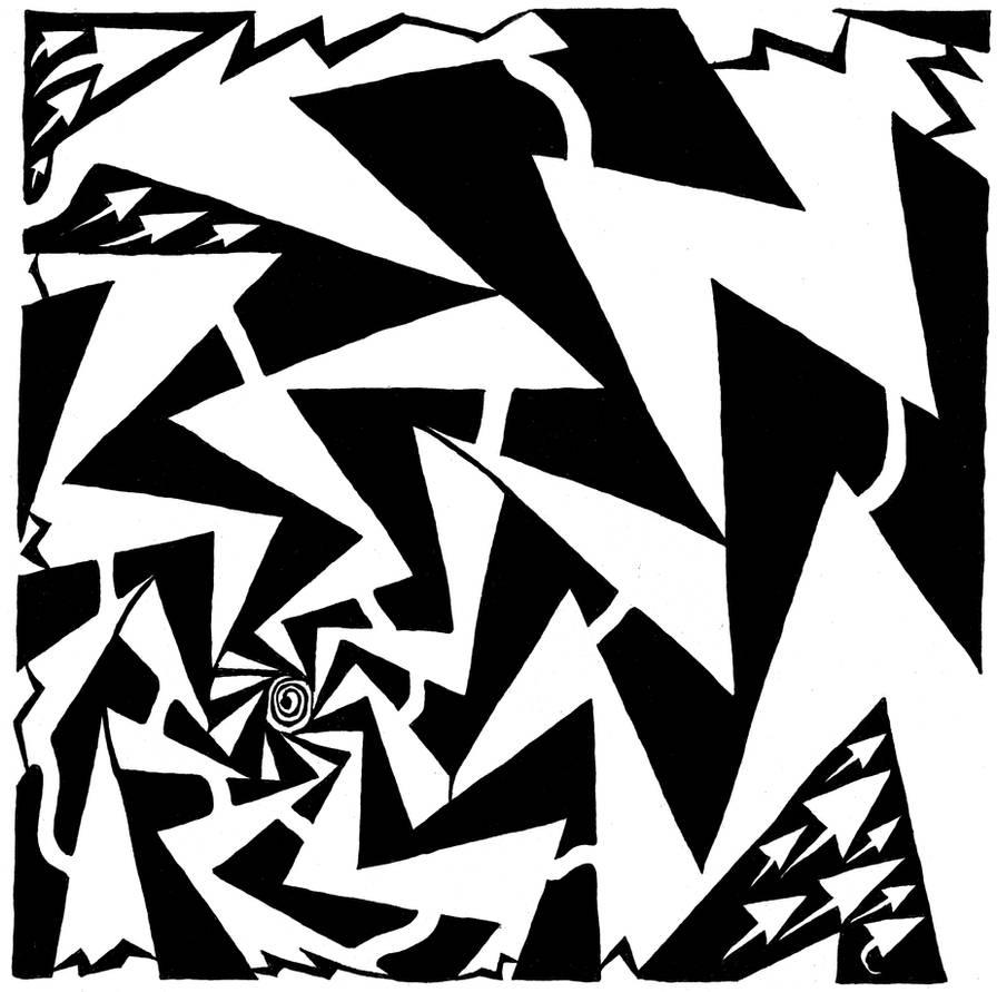 Electric Swirl Maze by ink-blot-mazes