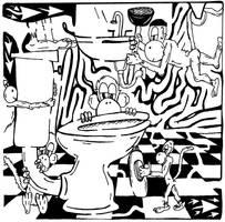 Team Of Monkeys Plumbers by ink-blot-mazes