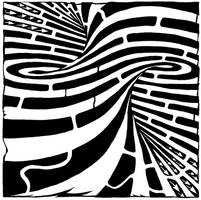 Tornado maze by ink-blot-mazes
