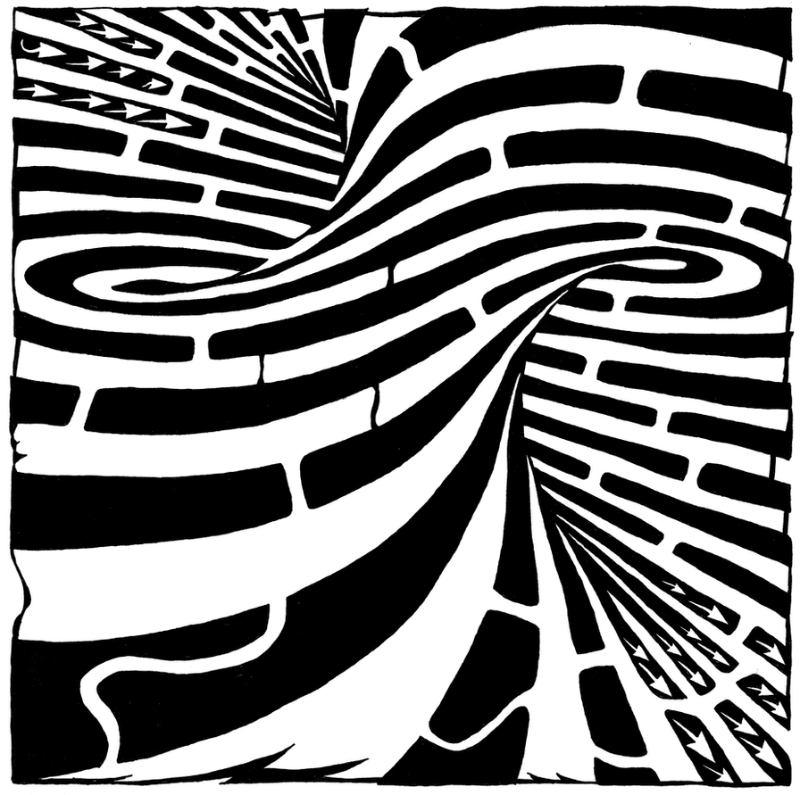 Tornado maze by ink-blot-mazes