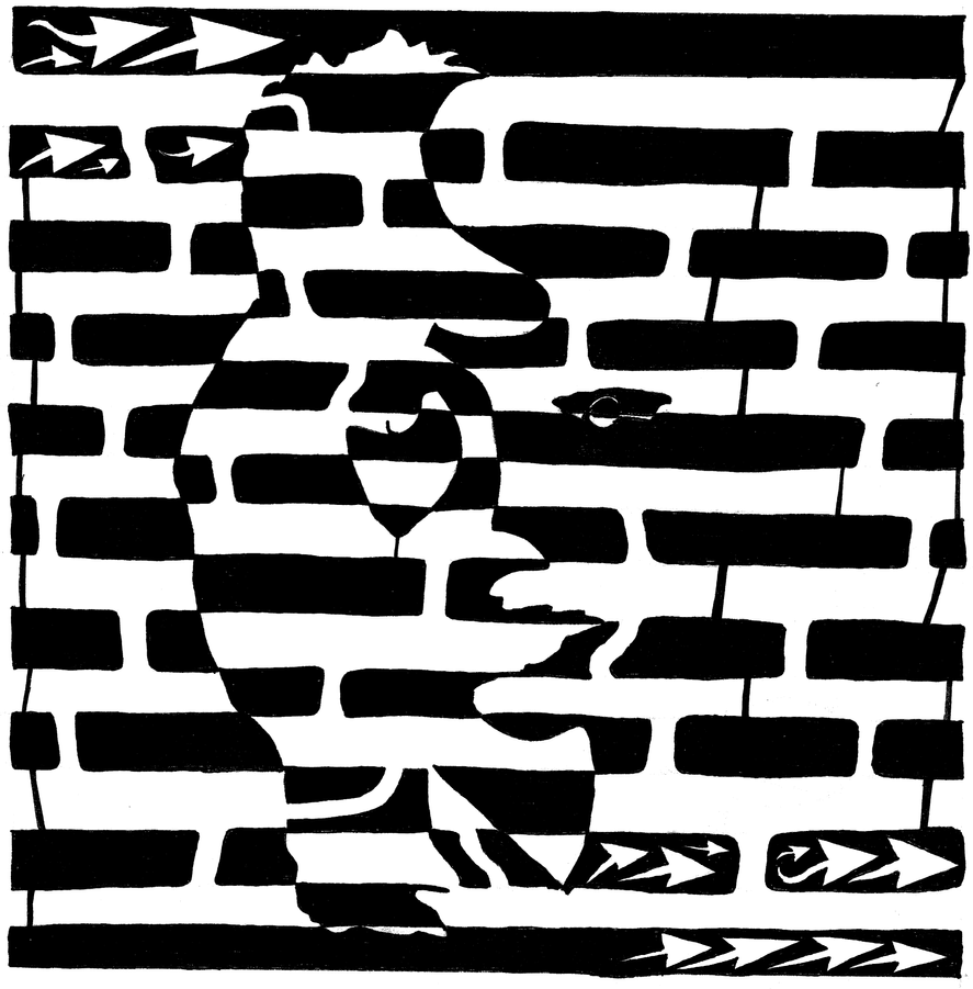 Saxophone Player or Woman Maze by ink-blot-mazes