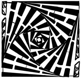 Swirled and Stacked boxes maze
