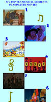 My Top Ten Musical Moments in Animated Movies