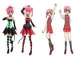 Similair Twin Couples: Deviluke and Narutaki Twins