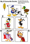 My Top Five Ducks