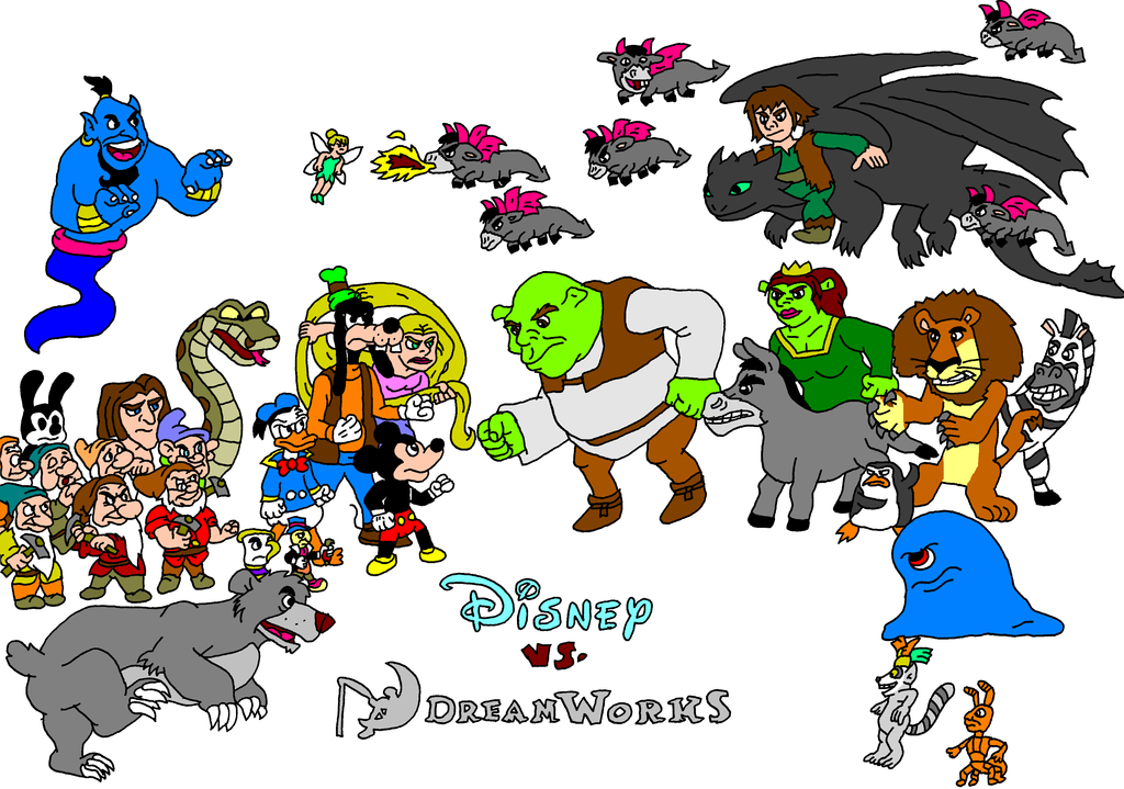 Disney Vs Dreamworks By Austria Man On Deviantart