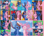 Couple Collage: Stitch and Angel