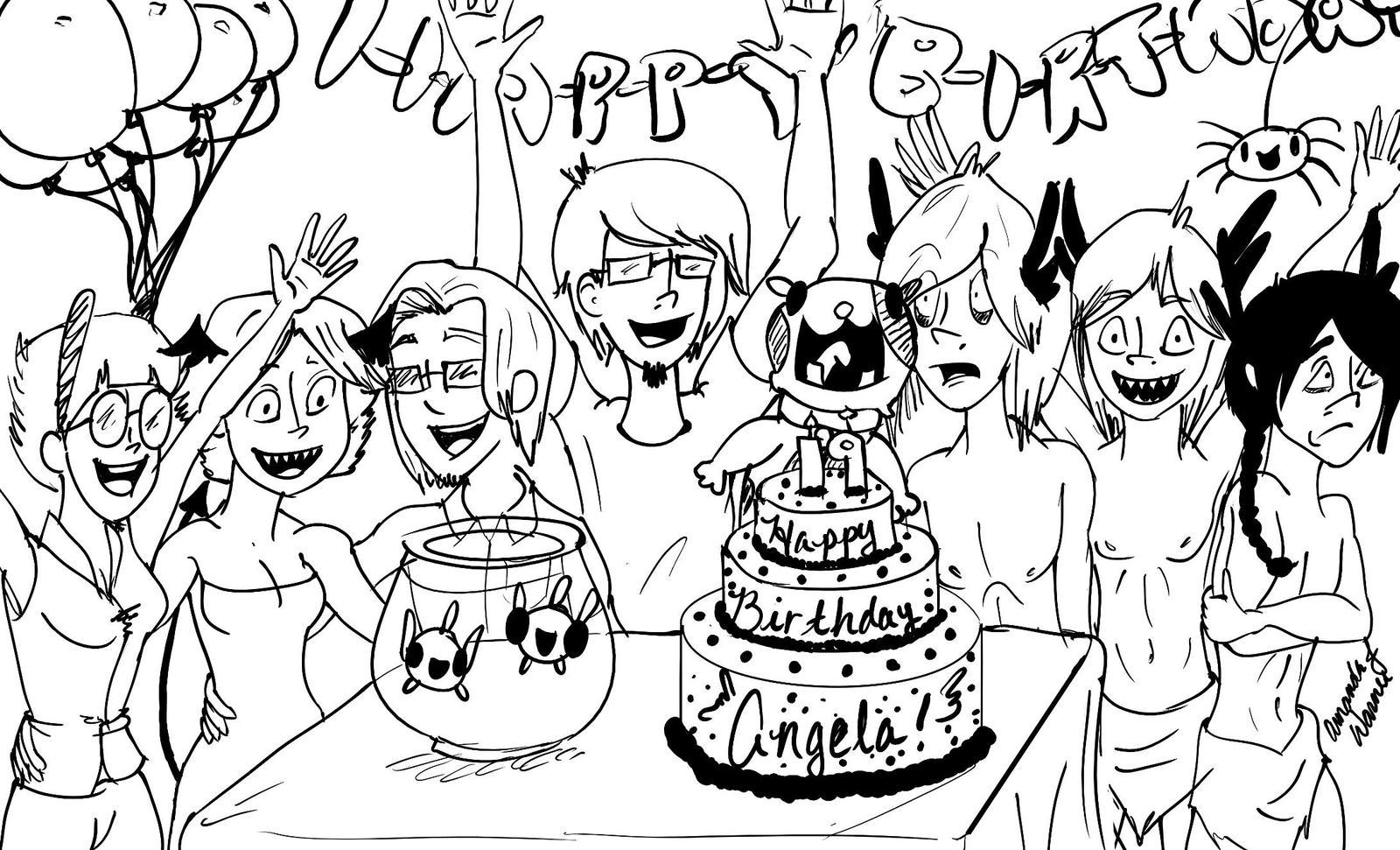 Happy Birthday Angela By Frizby On DeviantArt
