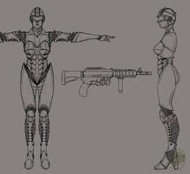 Helix Droid by LordKonton