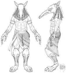 Seth Eygptian God of Chaos by LordKonton