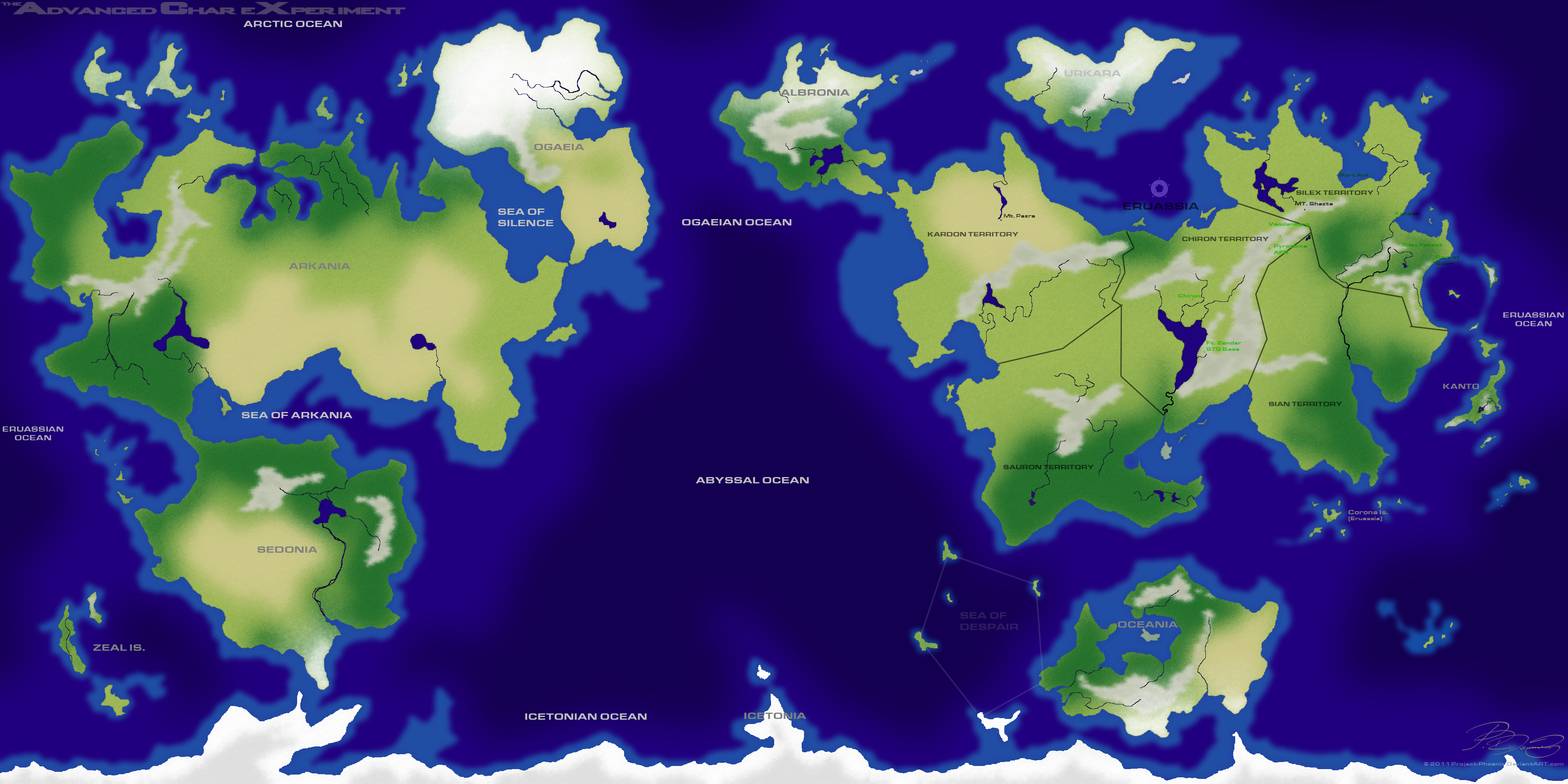 ACX World Map By PhoenixACX On DeviantArt - Flooded earth map