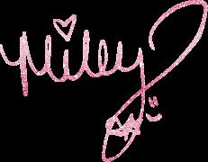 MIley Cyrus Firma Glitter PNG by TriniiJ