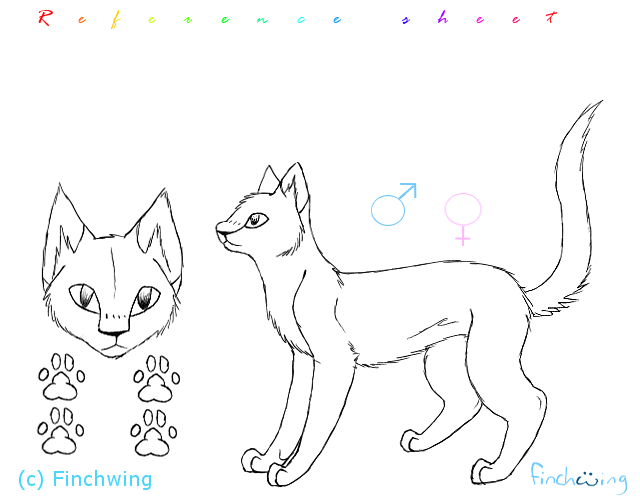 Cat reference sheet template by Finchwing on DeviantArt – References Sheet Template