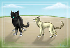 Two peas in a pod by Finchwing