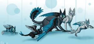 Feathered family by Finchwing
