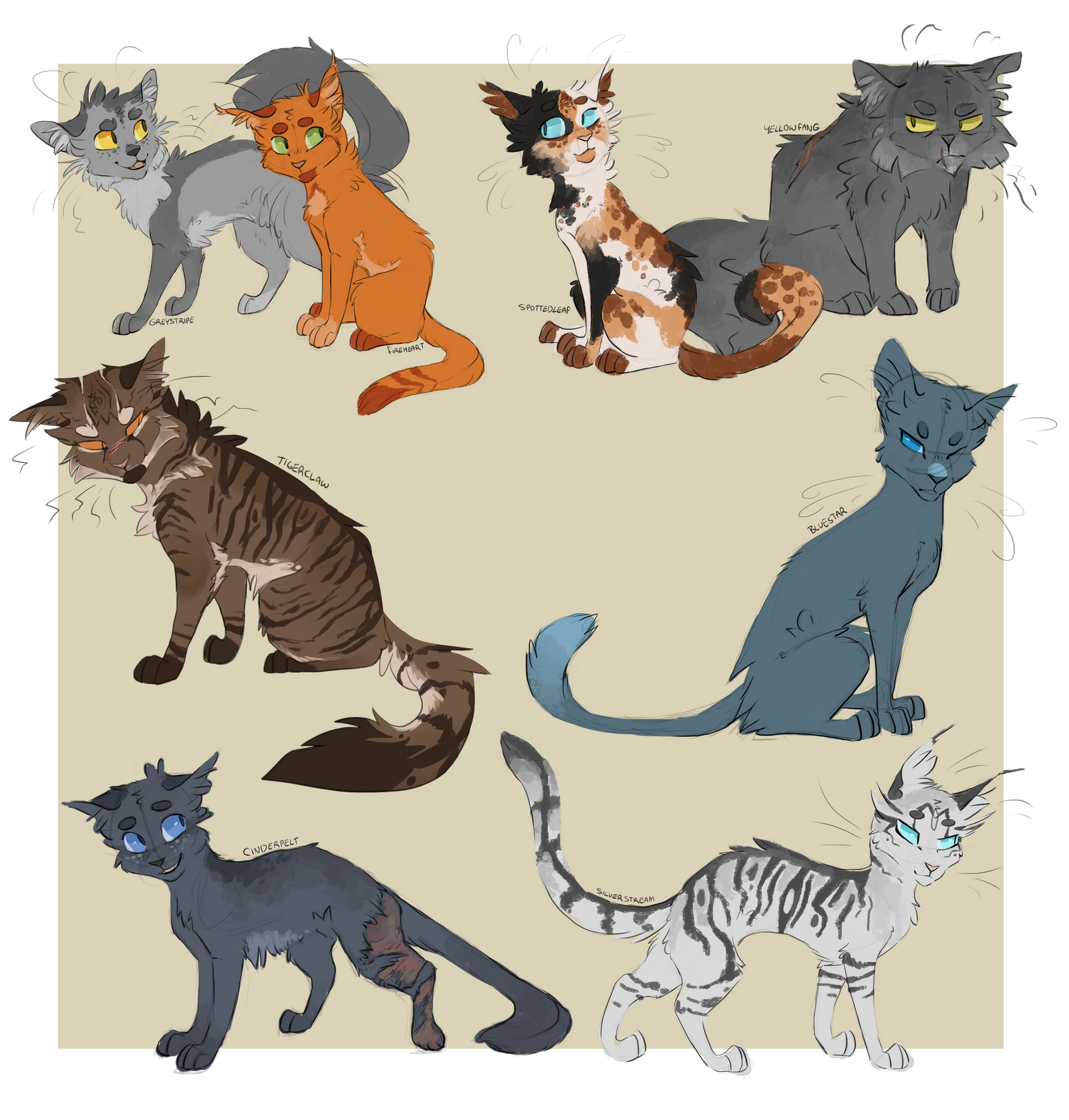 A handful of Warrior Designs by Finchwing on DeviantArt