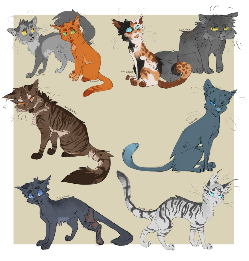 Warriors Books First Series: A Handful Of Warrior Designs By Finchwing On DeviantArt
