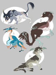 Colourful Cryptid Adoptable Auction by Finchwing