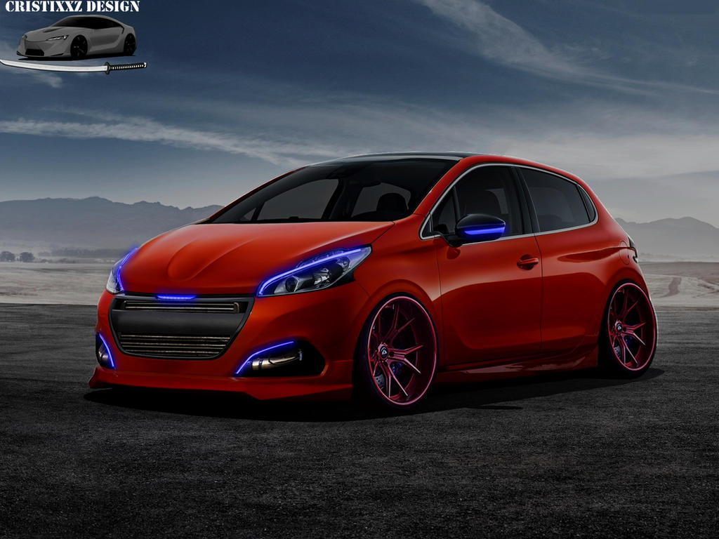 peugeot 208 2016 tuning by cristixxz on deviantart. Black Bedroom Furniture Sets. Home Design Ideas