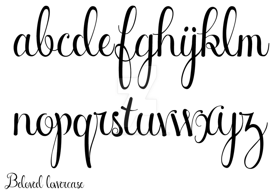 new beloved script lowercase by weegraphicsman on deviantart