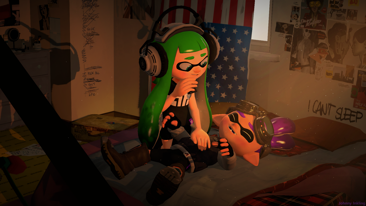 Inkling Splatoon Belly Button: A Squid And His Belly Rubs (Splatoon SFM Poster) By Johnny