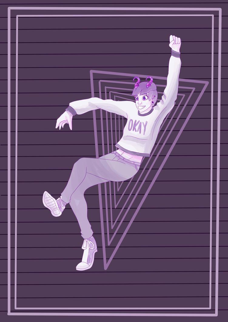 purple trash by CreepyPocky