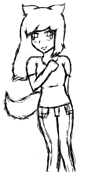 Wolf Girl Sketch By Tori-Zena-Anime On DeviantArt